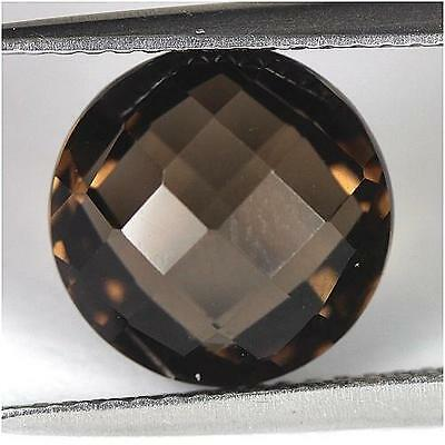 4.08Cts - Natural, Brown Smoky Quartz, Round, VVS, Africa, 1Pcs, Unheated