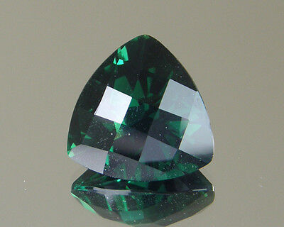 8.1Cts - Natural, Green Amethyst, Trillion, IF, Uruguay, 1Pcs, Untreated