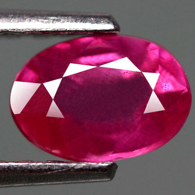 1.02Cts - Natural, Pink/Red Ruby, Oval, SI, Mozambique, 1Pcs, Glass Filled