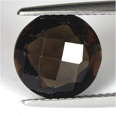 3.14Cts - Natural, Brown Smoky Quartz, Round, VVS, Africa, 1Pcs, Unheated