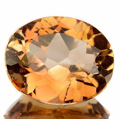 4.05Cts - Natural, Champagne Imperial Topaz, Oval, VS, Brazil, 1Pcs, Heated