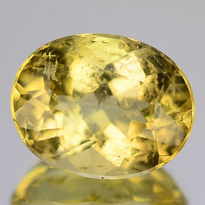 4.04Cts - Natural, Golden Yellow Beryl, Oval, VS, Brazil, 1Pcs, Untreated