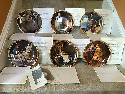 Norman Rockwell Collector Plates - Rediscovered Women - Set of Six