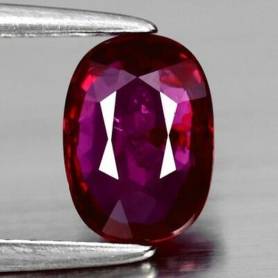 1.00 Ct Certified Oval Ruby, Exceptional Color!  Earth Mined, Unheated/untreated
