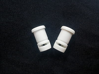Janome Spool Pin Sleeve x 2 NEW My Style Plastic White Bushing Thread Clip