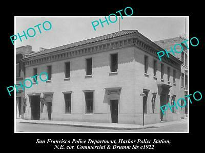 Old Large Historic Photo Of San Francisco Police, The Harbor Police Station 1922