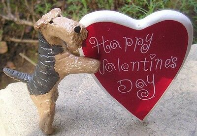 Airedale Terrier HAPPY VALENTINE'S HEART!