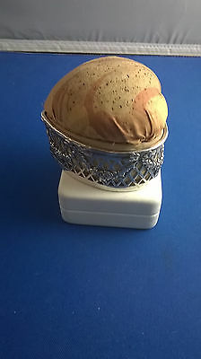Antique TIffany Sterling Silver Heart Shaped Pin Cushion Jewel Box