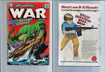 Star Spangled War Stories #134 (Aug-Sep 1967, DC) Dinosaur Horror Adams
