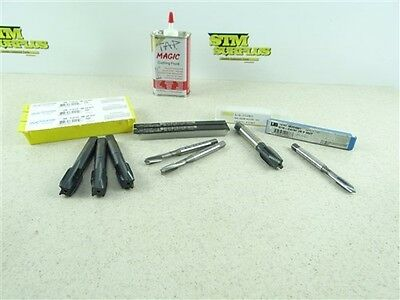 """New 7 Hss Hand Taps 5/16""""-24Nf To 5/8""""-18Nf Ub, Morse, Osg + New Cutting Fluid"""