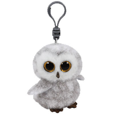 """TY Beanie Babies Boo's Owlette Owl Key Clip 3"""" Stuffed Collectible Plush Toy NEW"""