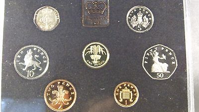 1985 United Kingdom Proof Coin Collection 7 coins in Original Packaging with COA