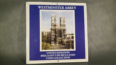 1986 United Kingdom Brilliant Uncirculated Coin Collection 7 coins Original Pack