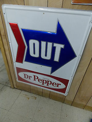 dr pepper tin sign texas advertising stout sign co general store open nice