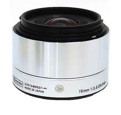 SIGMA Single Focus Standard Lens Art 19mm F2.8 DN Silver for Sony E Mount New