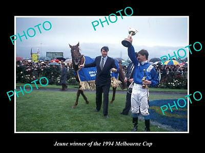 Large Historic Horse Racing Photo Of Jeune, 1994 Melbourne Cup Winner