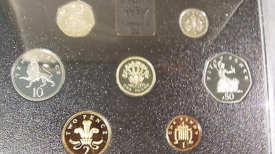 1991 United Kingdom Proof Coin Collection 7 coins in Original Packaging with COA