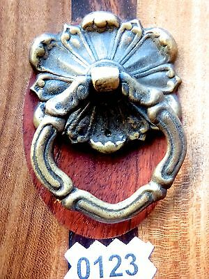 Victorian Drawer Pull Vintage Cabinet Bail Ring Pull Heavy Brass