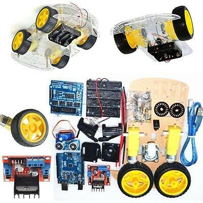 2WD/4WD Chassis Kits with Speed Encoder 65x26mm Tire for Arduino Robot Smart Car