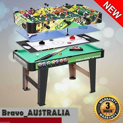 NEW 4-in-1 Table Tennis / Hockey / Pool / Foosball / Table Soccer Games