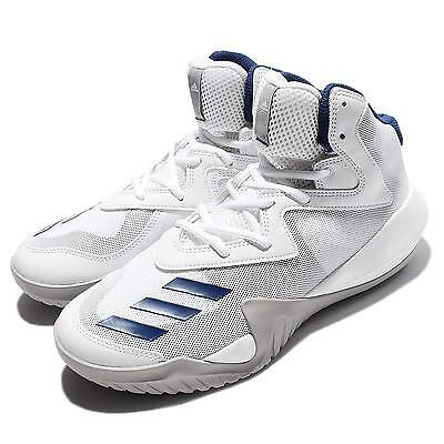 adidas Crazy Team 2017 White Blue Grey Men Basketball Shoes Sneakers BB8256