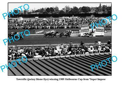 Old Large Photo, Horse Racing. Tawrrific 1989 Melbourne Cup Win
