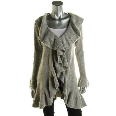 Style & Co. 7720 Womens Taupe Wool Blend Marled Cardigan Sweater Top L BHFO