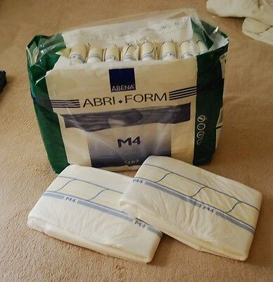 ABENA ABRI-FORM M4 SAMPLE PACK OF 2 Adult Diapers AB/DL ABDL Incontinence  Briefs