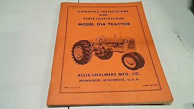 Allis Chalmers Model D 14 Tractor Parts Illustration & Operating Manual!!