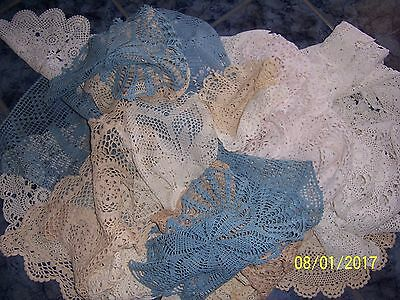 Vintage 50 Pieces  Crochet - Doilies,runners,table Cloth, Crochet Gloves