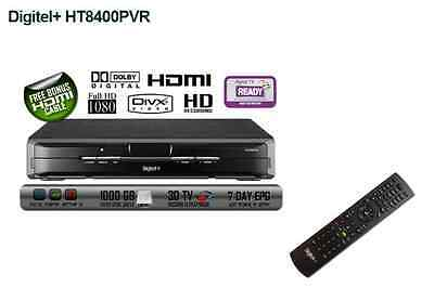 BRAND NEW - DIGITEL+ HT8400PVR Full HD 1TB Recorder Twin Tuner PVR Media Player