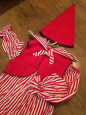 Vintage 40s 50s Halloween Red Collect Clown Child's Costumes Props Party Decor