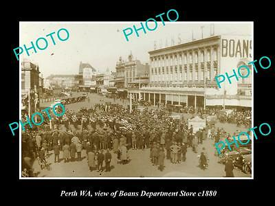 Old Large Historic Photo Of Perth Western Australia, Boans Department Store 1880