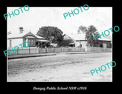 OLD LARGE HISTORIC PHOTO OF DUNGOG NSW, VIEW OF PUBLIC SCHOOL c1910