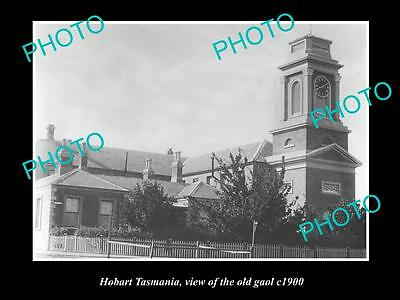 OLD LARGE HISTORIC PHOTO OF HOBART TASMANIA, VIEW OF THE OLD GAOL c1900