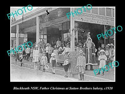 OLD LARGE HISTORIC PHOTO OF BLACKHEATH NSW, VIEW OF SUTTON BROS. BAKERY c1920