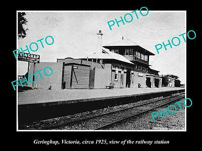 Old Large Historic Photo Of Geringhap Victoria, View Of The Railway Station 1925