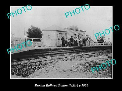 OLD LARGE HISTORIC PHOTO OF BUXTON NSW, VIEW OF RAILWAY STATION c1900