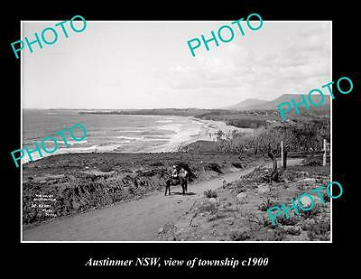 OLD LARGE HISTORIC PHOTO OF AUSTINMER NSW, VIEW OF TOWNSHIP c1900