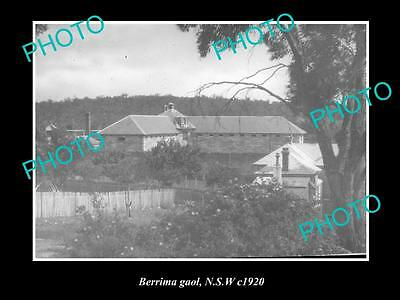 OLD LARGE HISTORIC PHOTO OF BERRIMA NSW, VIEW OF THE OLD GAOL c1920