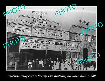 OLD LARGE HISTORIC PHOTO OF BOOLAROO CO-OP STORE, BOOLAROO NSW c1900