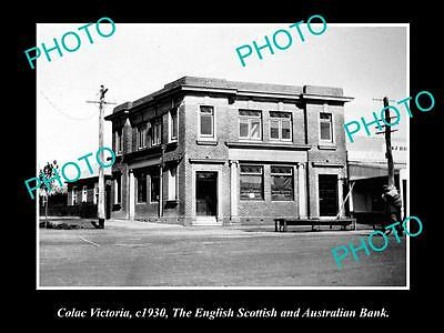 Old Large Historical Photo Of Colac Victoria, The Es&a Bank Building 1930