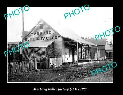 OLD LARGE HISTORIC PHOTO OF MARBURG QLD, VIEW OF THE BUTTER FACTORY ca1905