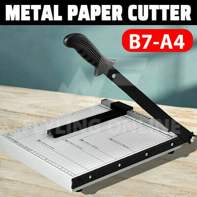 NEW Portable A4 To B7 Paper Photo Cutter Guillotine Trimmer Knife Metal Base