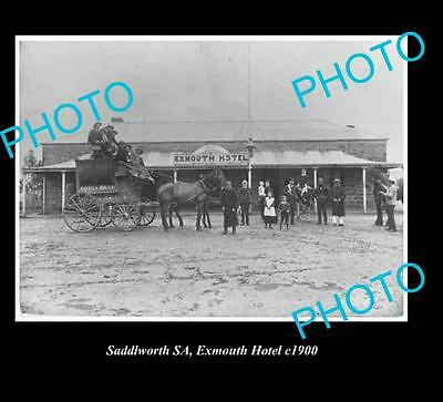 OLD LARGE HISTORICAL PHOTO OF SADDLEWORTH S.A, EXMOUTH HOTEL c1900