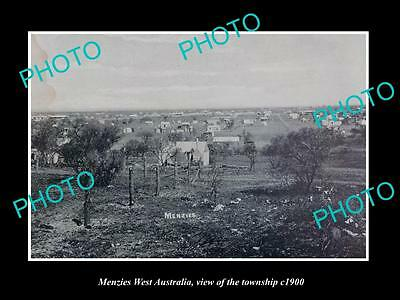 OLD LARGE HISTORIC PHOTO OF MENZIES WEST AUSTRALIA, VIEW OF THE TOWNSHIP c1900