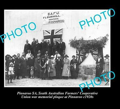 OLD LARGE HISTORICAL PHOTO OF PINNAROO S.A, FLOUR MILL MEMORIAL c1920