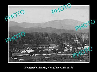 OLD LARGE HISTORIC PHOTO OF HEALESVILLE VICTORIA, VIEW OF TOWNSHIP c1880