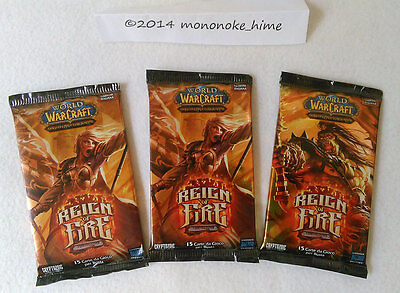 Warcraft TCG - 3x Reign of Fire Booster - Loot chance - sealed