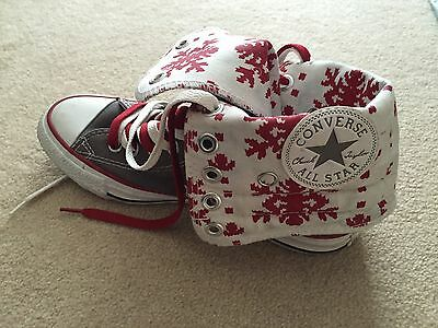 Converse fold down Grey and Red Trainers - UK Size 5